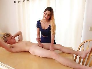 Dustin Pen Gets A Fantastic Handjob From His Teacher