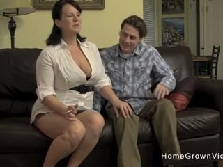 Big tit brunette MILF is craving a good throb