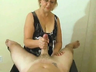 Handjob compilation with lark cumshots