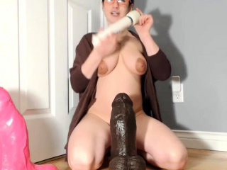 Gigantic BBC Dildo Wrecks The brush Greedy Young Pussy