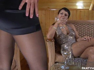 Russian mature Violin lesb 3