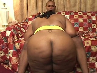Big hot momma rides a black cock