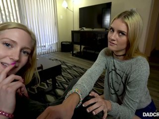 Mazzy Grace invites nasty swain yon blow huge dick of her perverted stepdad