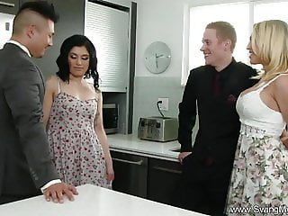 Amazing Groupsex Kitchen Latina Swingers Wife