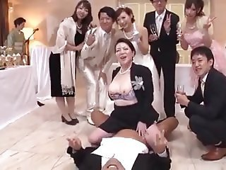 Asian Bride Family Japanese Mature Old and Young Orgy Riding