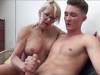 Family Glasses Handjob Mature Mom Old and Young