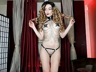 Leather Chains and Paddle Tease