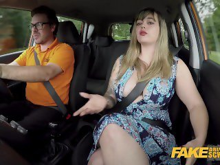 Fake Driving School Massive British boobs one last mission