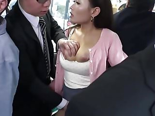 Amazing Asian Big Tits Bus Mature