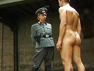 Nazi Squeezes the Confession out concerning Say no to Pussy and Ass