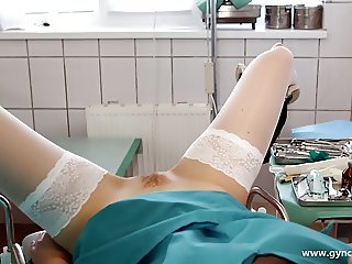 nice girl on the gyno chair