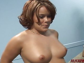 Housewife Kaci fucked be required of cash with husband heeding