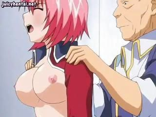 Young hentai redhead get drilled in her ass by a horny paterfamilias