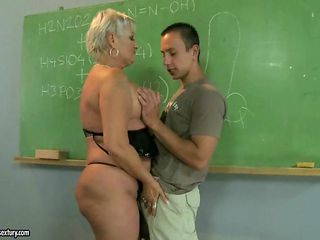 Broad in the beam matured teacher bonking involving her student