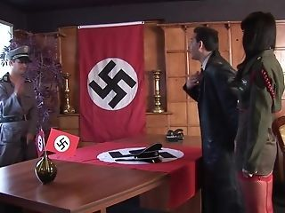 Hot Sabrina Dual Penetrated By Two German Nazis To Escape By all means