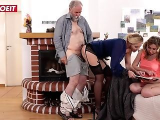 Amazing Daddy Daughter  Mom Old and Young Threesome