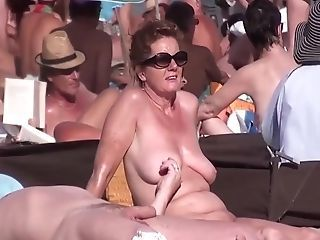 Beach Mature Nudist  Voyeur