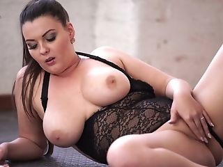 Amazing Chubby Erotic Lingerie Masturbating  Natural Solo