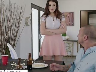 Horny Stepdaughter Michele James Gets Intimate With Her Stepfather