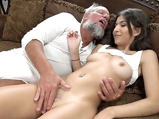 Old Fart Likes Fucking Sizzling Youthful Sweetie With Brilliant Come forth Anya Krey