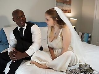 Big Black Fuck-stick Wedding With A Wild First-timer Duo - Interracial