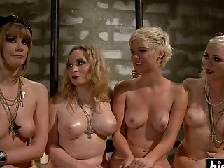 Sweet Platinum-blonde Hair Honey Doll Starts Shrieking While Other Dolls Drill Their way With Lengthy Fucktoys - Lezzy