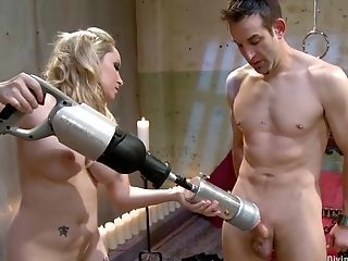 Blonde Domina At hand Big Tits Plays At hand Her Private Intercourse Fucktoy