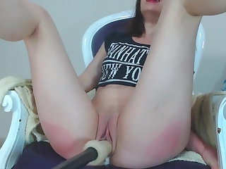 Sweeping Orgasms to Self Pussy Spanking