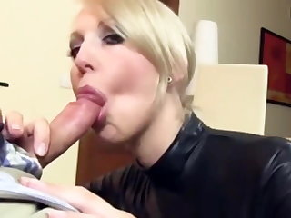 Amateur Blonde Blowjob Latex  Wife