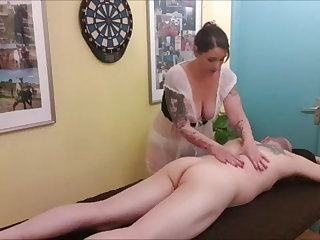 Sexy nurse giving Massage