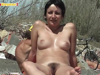 Amateur Beach Hairy  Nudist