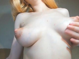 Puffy nipple milking while riding my cock